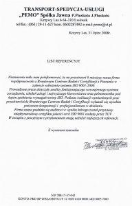 2008.07.31 - Transport-Spedycja-Usługi PEMO
