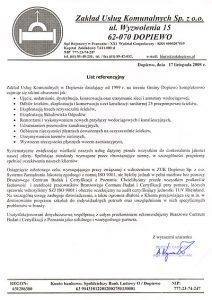 2008.11.17 - Zakład Usług Komunalnych Sp. z o.o.