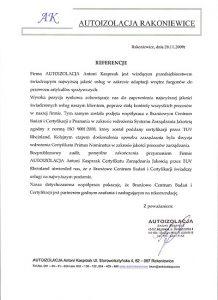 2009.11.20 - Autoizolacja z Rakoniewic