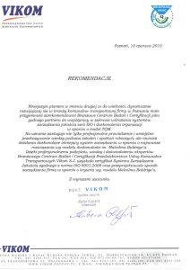 2010.06.10 - Przedsiębiorstwo Usług Komunalno-Transportowych VIKOM
