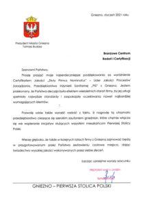 2021-01 Prezydent Miasta Gniezna